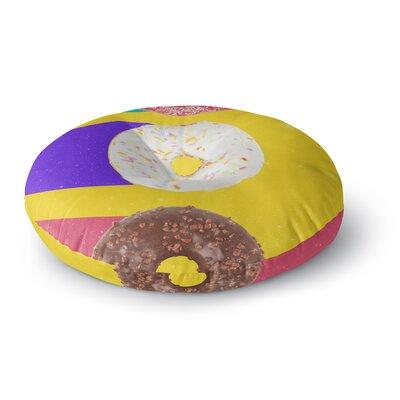 Danny Ivan Donuts Round Floor Pillow Size: 26 x 26