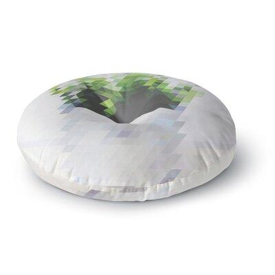 Danny Ivan Plant Round Floor Pillow Size: 23 x 23