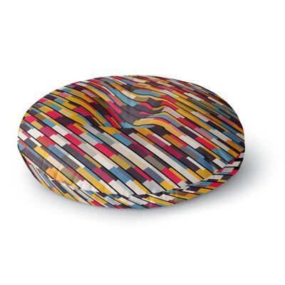 Danny Ivan Textured Round Floor Pillow Size: 23 x 23
