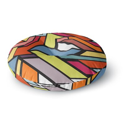 Danny Ivan Abstract Shapes Round Floor Pillow Size: 23 x 23