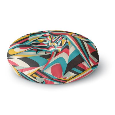 Danny Ivan Dont Come Close Abstract Round Floor Pillow Size: 26 x 26