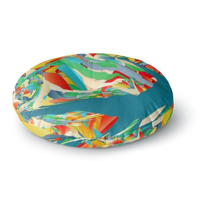 Danny Ivan Soccer Slide Crazy Rainbow Round Floor Pillow Size: 23