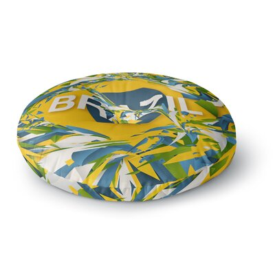 Danny Ivan Brazil World Cup Round Floor Pillow Size: 26 x 26