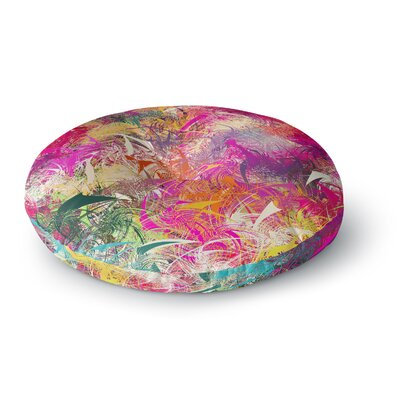 Danny Ivan Splash Rainbow Abstract Round Floor Pillow Size: 26 x 26