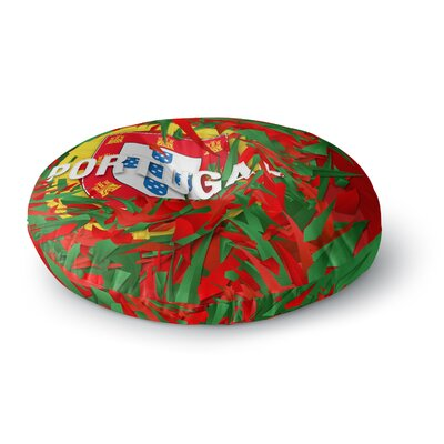 Danny Ivan Portugal World Cup Round Floor Pillow Size: 23 x 23