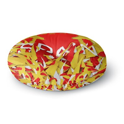 Danny Ivan Spain World Cup Round Floor Pillow Size: 23 x 23