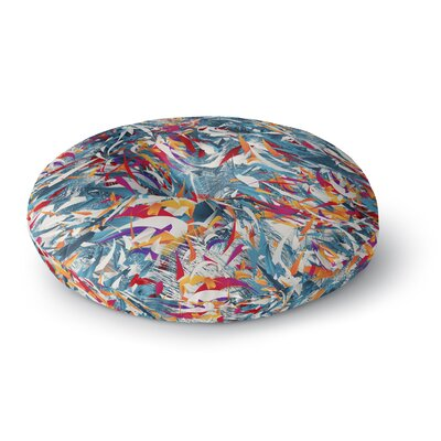 Danny Ivan Excited Colors Abstract Round Floor Pillow Size: 26 x 26