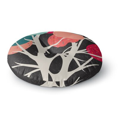 Danny Ivan Lovely Tree Branches Round Floor Pillow Size: 26 x 26