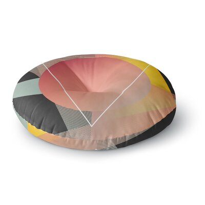 Danny Ivan Objectum Abstract Round Floor Pillow Size: 26 x 26