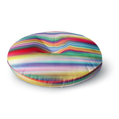 Danny Ivan Blurry Cool Rainbow Blur Round Floor Pillow Size: 26 x 26