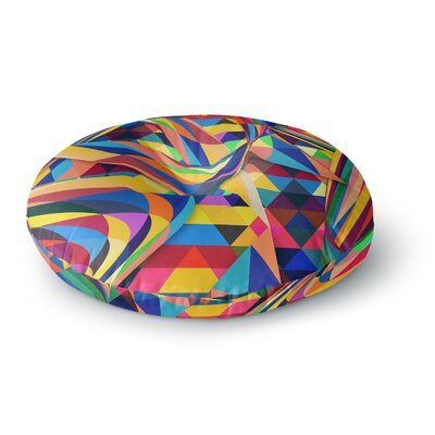 Danny Ivan the Optimist Geometric Round Floor Pillow Size: 26 x 26