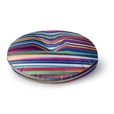 Danny Ivan Blurry Lines Round Floor Pillow Size: 23 x 23