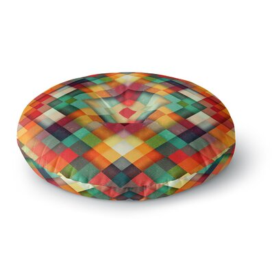 Danny Ivan Time Between Geometric Abstract Round Floor Pillow Size: 26 x 26