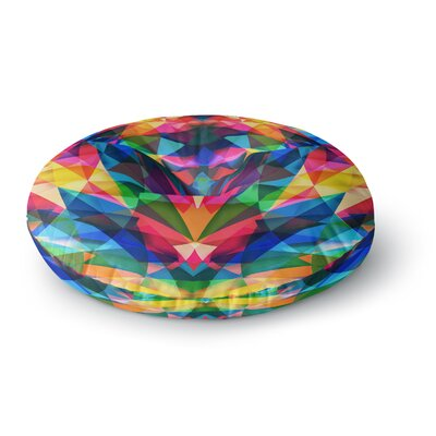 Danny Ivan Day We Met Rainbow Geometric Round Floor Pillow Size: 26 x 26