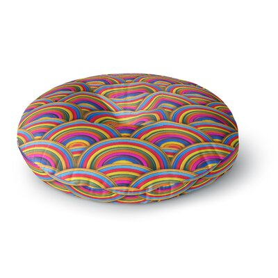 Danny Ivan Rainbows Round Floor Pillow Size: 23 x 23