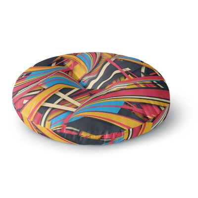 Danny Ivan Slippery Slope Round Floor Pillow Size: 23 x 23