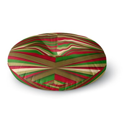 Danny Ivan Christmas Pattern Round Floor Pillow Size: 23 x 23