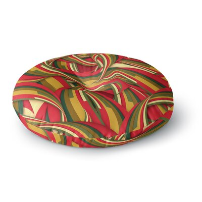 Danny Ivan Excited Christmas Round Floor Pillow Size: 23 x 23