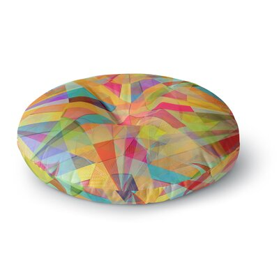 Danny Ivan Star Geometric Round Floor Pillow Size: 23 x 23