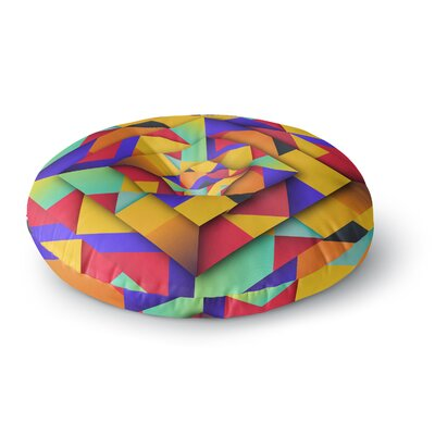 Danny Ivan Shapes II Geometric Round Floor Pillow Size: 23 x 23