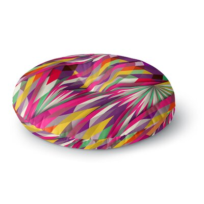 Danny Ivan Sweet Geometric Round Floor Pillow Size: 23