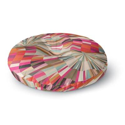Danny Ivan Convoke Geometric Round Floor Pillow Size: 26