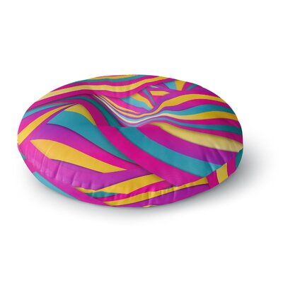Danny Ivan Swirls Everywhere Round Floor Pillow Size: 26