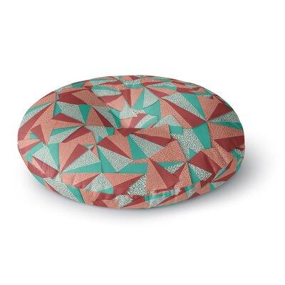 Danny Ivan Marsala Pattern Round Floor Pillow Size: 26 x 26