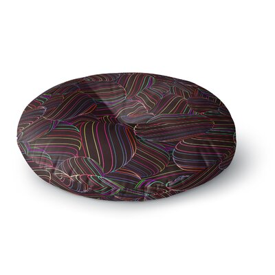 Danny Ivan Sphering Rainbow Round Floor Pillow Size: 23 x 23
