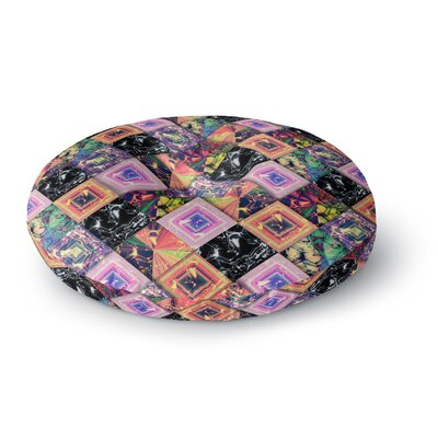 Danny Ivan Never Run Away Geometric Round Floor Pillow Size: 26 x 26