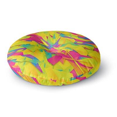 Danny Ivan Bubble Gum Explosion Round Floor Pillow Size: 23 x 23