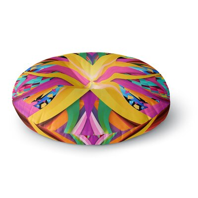 Danny Ivan Tropical Fun Round Floor Pillow Size: 23 x 23