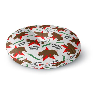 Danny Ivan California Pattern Round Floor Pillow Size: 26 x 26