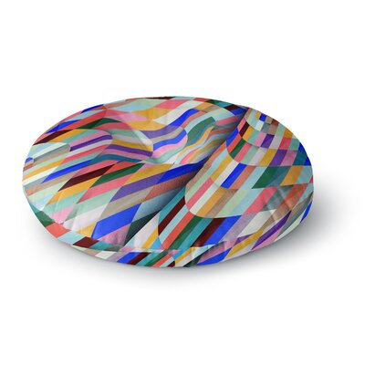 Danny Ivan Different Geometric Round Floor Pillow Size: 26 x 26