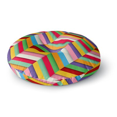 Danny Ivan Excuse Me Abstract Round Floor Pillow Size: 23 x 23