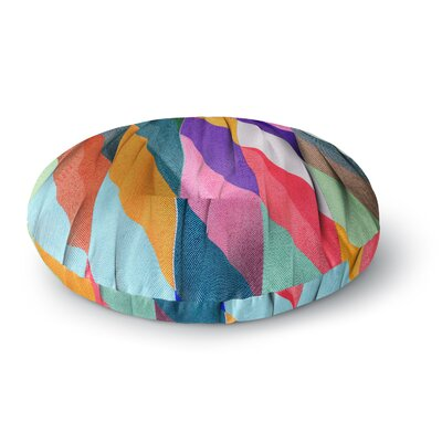 Danny Ivan Timeless Texture Stripes Round Floor Pillow Size: 26 x 26
