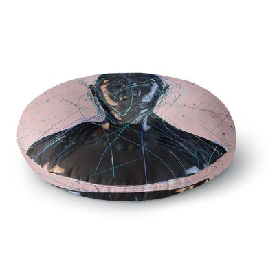 Danny Ivan Calm Woman Round Floor Pillow Size: 26 x 26