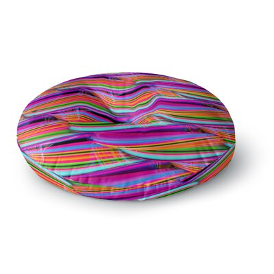 Danny Ivan Super Candy Round Floor Pillow Size: 23 x 23