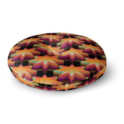 Danny Ivan Stars Pattern Round Floor Pillow Size: 26 x 26
