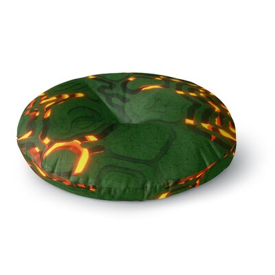 Danny Ivan Reasons Digital Round Floor Pillow Size: 23 x 23