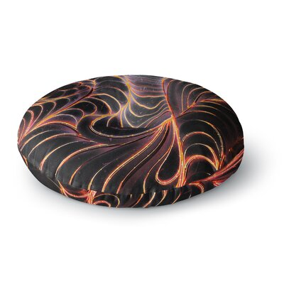 Danny Ivan Trouble Digital Round Floor Pillow Size: 26 x 26