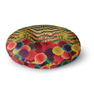 Deepti Munshaw Chevron and Dots Round Floor Pillow Size: 23 x 23