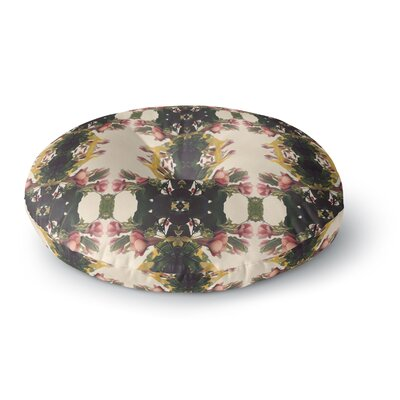 Deepti Munshaw Enchanted Garden Floral Round Floor Pillow Size: 23 x 23