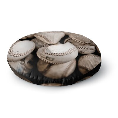 Debbra Obertanec on the Mound Baseball Round Floor Pillow Size: 26 x 26