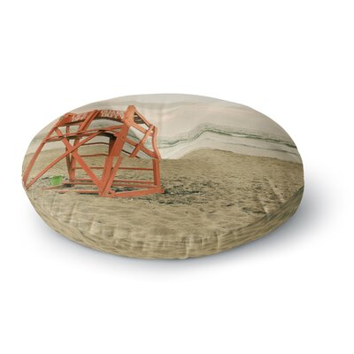 Debbra Obertanec Dusk at the Beach Ocean Round Floor Pillow Size: 26 x 26