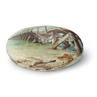 Debbra Obertanec On the Pier Beach Round Floor Pillow Size: 26 x 26