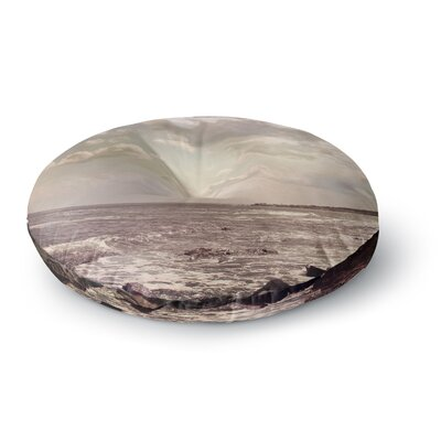 Debbra Obertanec Rocky Coast Sea View Round Floor Pillow Size: 23 x 23