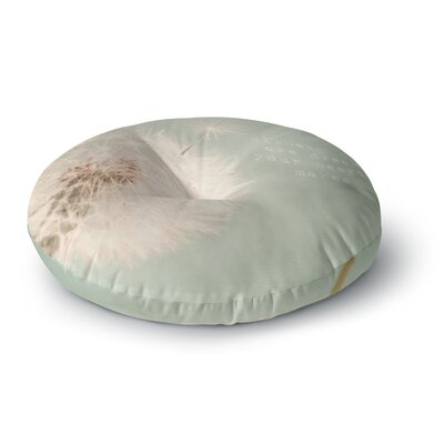 Debbra Obertanec Wishes Are Dreams Fuzzy Round Floor Pillow Size: 26 x 26