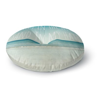 Debbra Obertanec Salt in the Air Ocean Typography Round Floor Pillow Size: 26