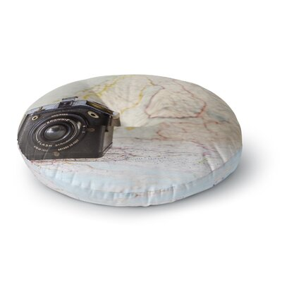 Debbra Obertanec Travel Time Round Floor Pillow Size: 26 x 26